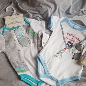 Other - Oh Boy!!!!  2 Onsies and 1 pacifier clip